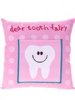 Dear Tooth Fairy Cushion With Pocket For Tooth/Reward Pink ....